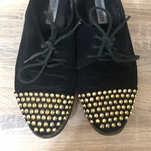 Steve Madden Gold & Black Spiked Shoes